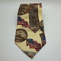 Vintage U.S Independence By Stafford Corporate Business Men's Fashion Neck Tie