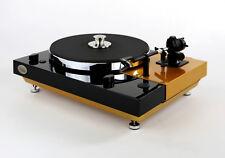 Restaurierter & improvisado Thorens TD 320 bicolor negro-oro metalizado