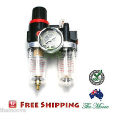 "Air Filter Regulator 1/4"" Water Pressure Compressor Moisture Trap Separator"
