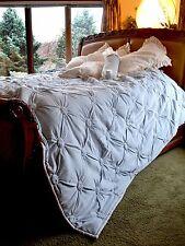 Soft Surroundings Ruched Velvet Quilt King + One King Sham