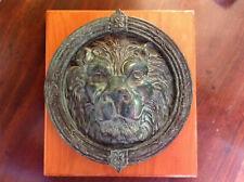 More details for  vintage bronze lion door knocker heavy and of large proportion.