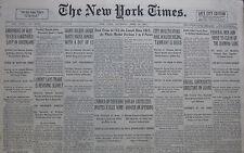 4-1931 APRIL 30 LEGS DIAMOND GANG FEDERAL MEN CLEAN UP. ZAMORA INVITES EXILES