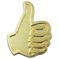 PinMart's Gold Plated Thumbs Up Job Well Done Good Work Lapel Pin