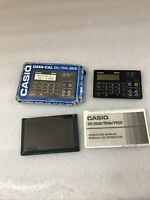 VINTAGE CASIO DATA-CAL DC-750C GD CARD CALCULATOR MEMORY BANK UNTESTED-parts