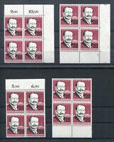 Bund 266 postfrisch Eckrand VB mit Formnummer oder Viererblock BRD 1957