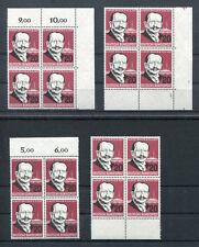 Bund 266 Eckrand VB mit Formnummer oder Viererblock postfrisch BRD 1957