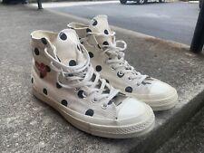 Converse x Comme Des Garcons White Polka Dot