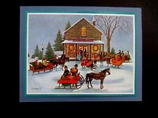 """AAG Sample Xmas Greeting Card by Charlotte Sternberg  """"The Village Store"""" Lovely"""