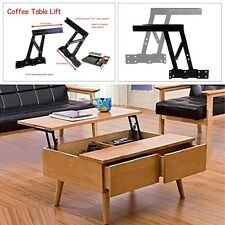 2 Premium Coffee Table Lift Up Top Lifting Frame Mechanism Spring Hinge Hardware