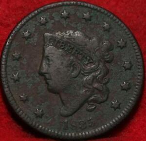 1835 Philadelphia Mint Copper Coronet Head Large Cent