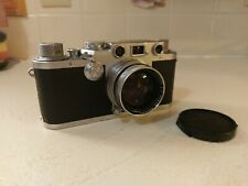 1952 Leica IIIf Rangefinder Film Camera with 50mm F2 Summitar Lens