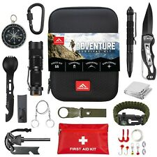 FRONTERA Survival Kit 55-in-1 Hunting Camping Hiking First Aid Emergency.