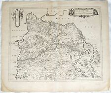 Willem Blaeu (1571-1638) Map Caricta Borealis Carrick West Coast Scotland C1692