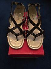 New Girls Harrison 'Paula' Sandals Black - Size 12