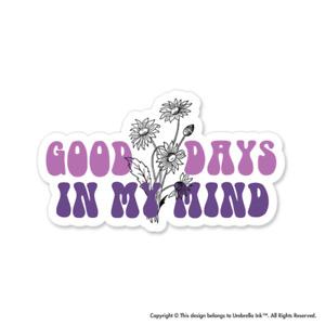 Good Days In My Mind Hippie Sticker Car Bumper Decals Scrapbooking