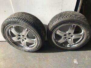 Set Of 4 18 Inch Polished 5x100 Alloy Wheels Tyres Pontiac Skoda VW MG SUBARU