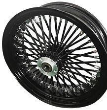 "Black/Black 48 Ultima King Spoke 18"" x 3.5"" Rear Wheel for Harley/Custom Models"