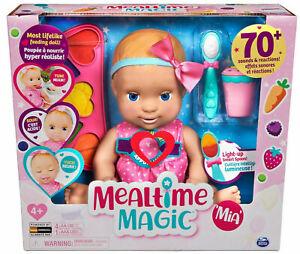 Luvabella Mealtime Magic Mia Interactive Lifelike Feeding Baby Doll BRAND NEW