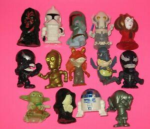 "2005-2006 Lot 14 Pc. Burger King Star Wars Toys Figures 2.5"" - 3.25"" tall  VGC"