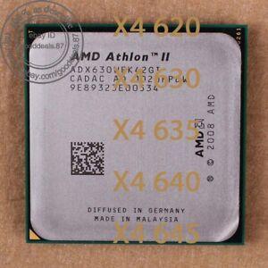 AMD Athlon II X4 620 X4 630 X4 635 X4 640 X4 645 Socket AM3 Processor