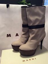 MARNI STYLISH HIGH HEELS ANKLE BOOTS (BRAND NEW) SIZE 38/UK5
