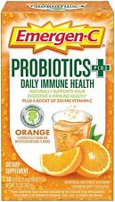 Emergen-C Probiotics+ Vitamin C 250mg 30 Count, Orange Flavor, EXP 08/2020