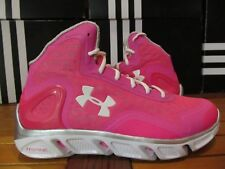 RARE Under Armour Spine Bionic BREAST CANCER THINK PINK 12 1238198 653 Kay curry