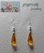 piccolo Arancio acrilico cristallo arpionare forma Orecchini a goccia