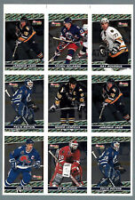 1993-94 OPC Premier BlackGold Press Proof Panel of 9, Lemieux, Potvin, Sakic...
