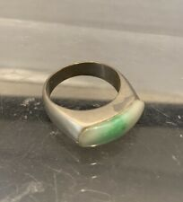Chinese Antique Silver Jadite Ring size 9