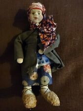 """Antique Cloth Doll Made in Soviet Union - Russian Stockinette MINT Beautiful 7"""""""