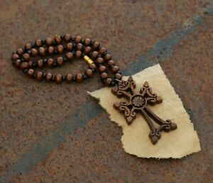 Armenian necklace Cross wooden for the and the car from Armenia hand made wood
