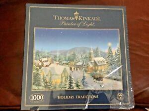 Gibsons Thomas Kinkade jigsaw puzzle 1000 piece , Holiday Traditions NEW Sealed