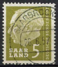 Saar 1957 SG#381, 5f President Heuss Definitive Used #A81310