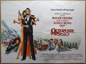 OCTOPUSSY (1983) - original UK quad film/movie poster, James Bond, Roger Moore