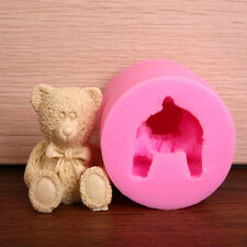 3D Bear Silicone Fondant Soap Candel Making Cake Ice Cube Candy Craft Mould Tool