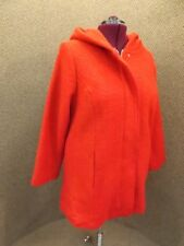 Woman Within NEW Sporty Bold Red Hidden Zip Up Hooded Wool Coat Sz 20W Anorak