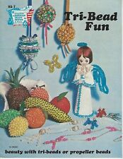Tri-Bead Fun Propeller Beads Vtg Beading Craft How To Instruction Book Patterns