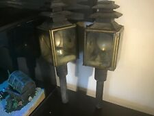 Pair Antique Raydyot Carriage lamps