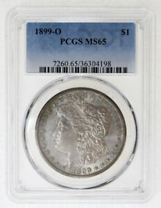 1899-O  $1 MORGAN SILVER DOLLAR PCGS MS65