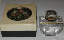 """Vintage Caron Fleurs de Rocaille Perfume Bottle/Box, Unsigned Baccarat 2 3/4"""" Ht"""