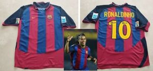 RONALDINHO hand signed autographed 2003 Barcelona Debut Jersey PROOF Brazil