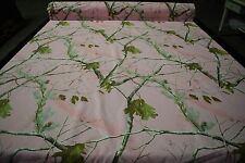"""Realtree AP Pink Cotton Poly Comfort Twill Camo Fabric 60""""W Camouflage Apparel"""