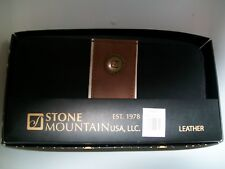 Stone Mountain  Nubuck Large Double Zip Around Wallet  Black/Brown