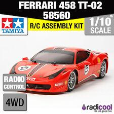 58560 TAMIYA FERRARI 458 CHALLENGE NUEVO TT-02 1/10th R/c Radio Control 1/10 coche
