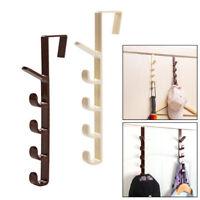 Over The Door Hanger Hook Clothes Coat Hat 5 Hooks Hanging Storage Holder Rack