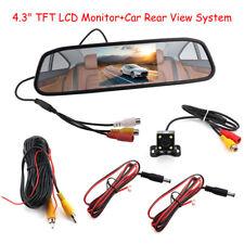 """4.3""""LCD Car Rear View Mirror Monitor 4LED Night Vision Reverse Backup HD Camera"""