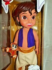 "Disney Store Animators' Collection Aladdin 16"" Doll With Pet Monkey Abu - NIB"