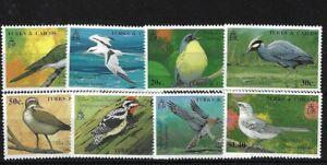 TURKS & CAICOS SG1010/17, 1990 BIRDS (1ST) MNH