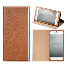 SwitchEasy Wrap 4.7 iPhone 6 6s Leather Folio Flip Case Cover Stand Brown